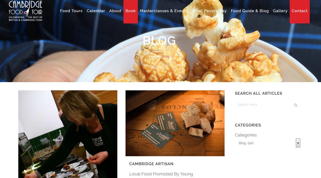 cambridge food tour seo case study