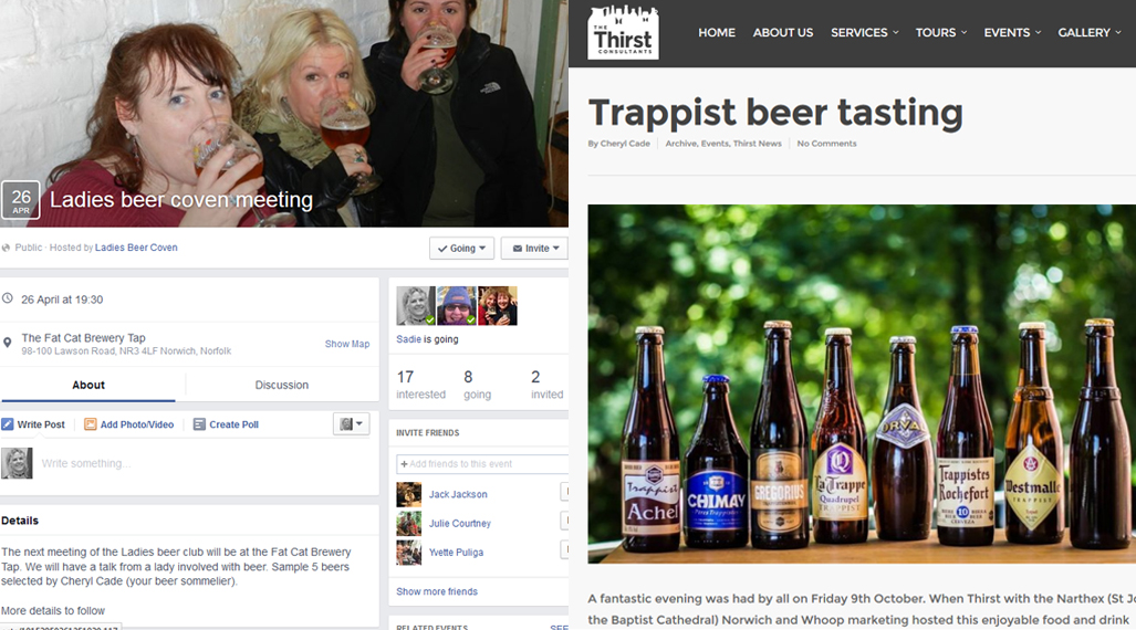 thirst consultants ladies beer club and trappist food and beer tasting