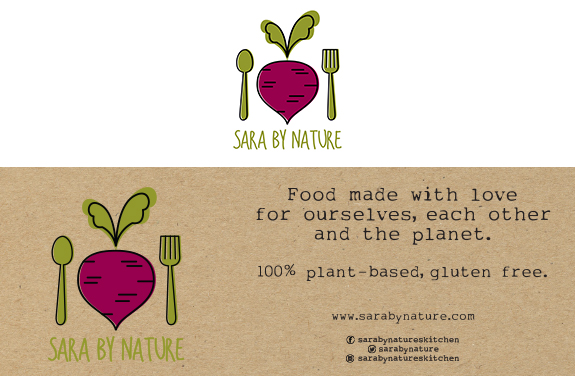 sara by nature log and banners