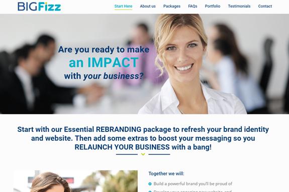 bigfizz branding website marketing