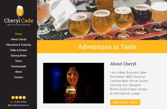 cheryl cade beer sommelier and educator