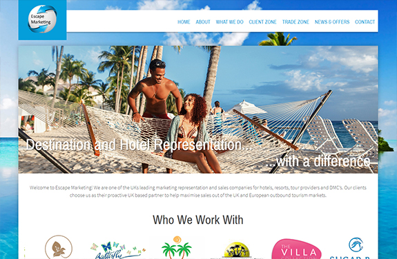 escape marketing caribbean hotel and destination representation