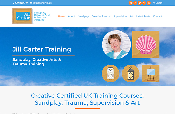 jill carter sandplay trauma art therapy training