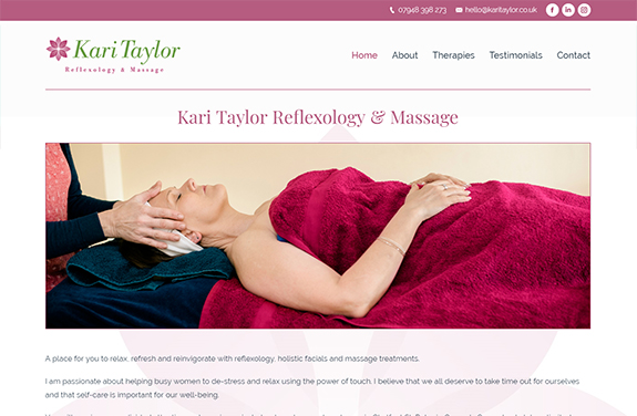 kari taylor reflexology and massage