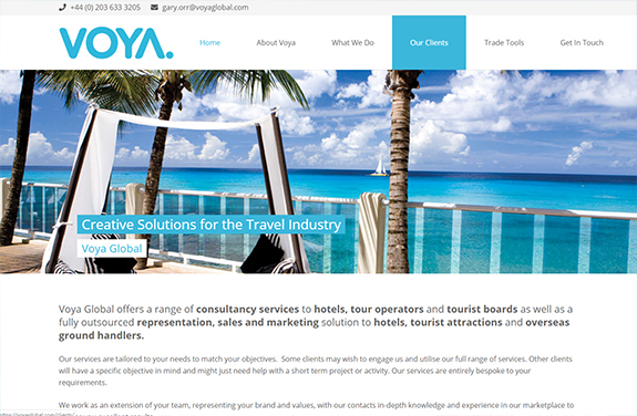 voya global travel representation